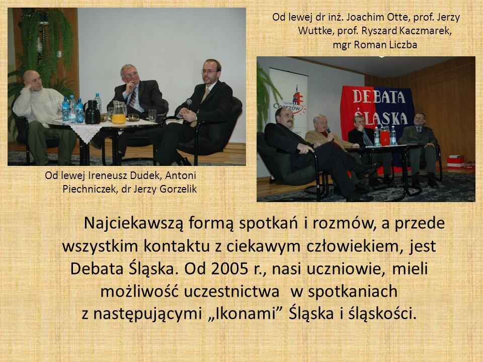 Od lewej Ireneusz Dudek, Antoni Piechniczek, dr Jerzy Gorzelik