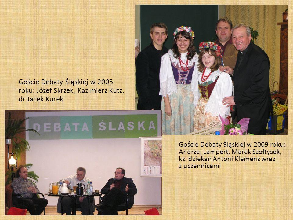 Goście Debaty Śląskiej w 2005 roku: Józef Skrzek, Kazimierz Kutz, dr Jacek Kurek