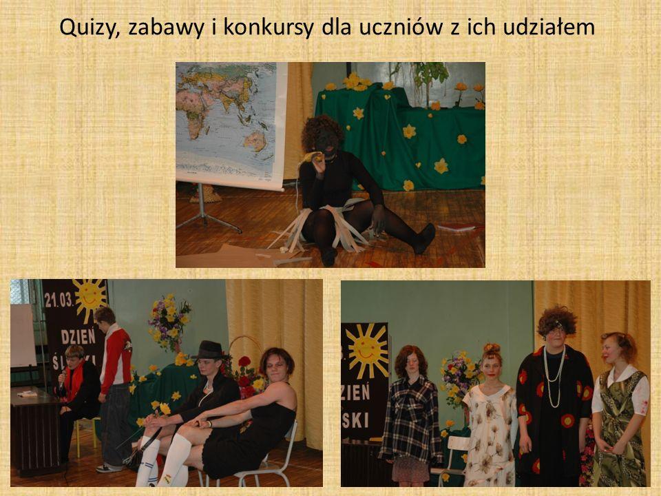 Quizy, zabawy i konkursy dla uczniów z ich udziałem