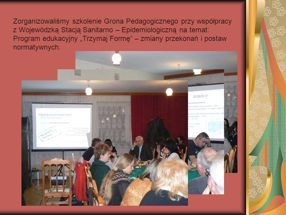 Zorganizowaliśmy szkolenie Grona Pedagogicznego przy współpracy z Wojewódzką Stacją Sanitarno – Epidemiologiczną na temat: