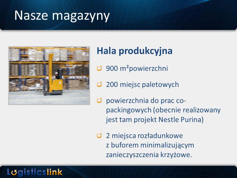 Nasze magazyny Hala produkcyjna 900 m²powierzchni