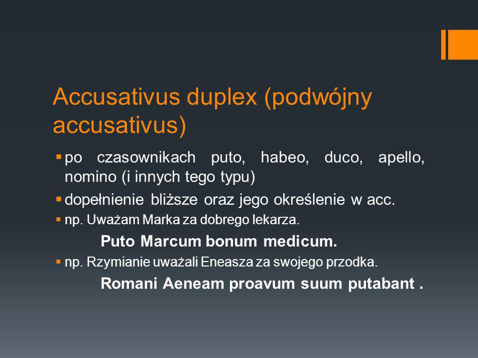 Accusativus duplex (podwójny accusativus)