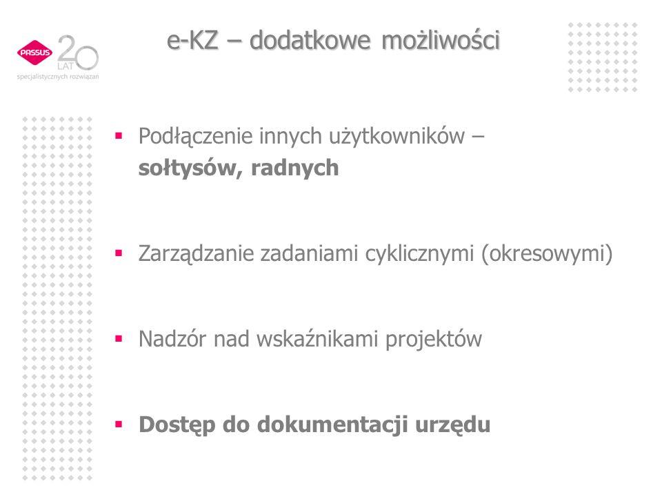 e-KZ – dodatkowe możliwości