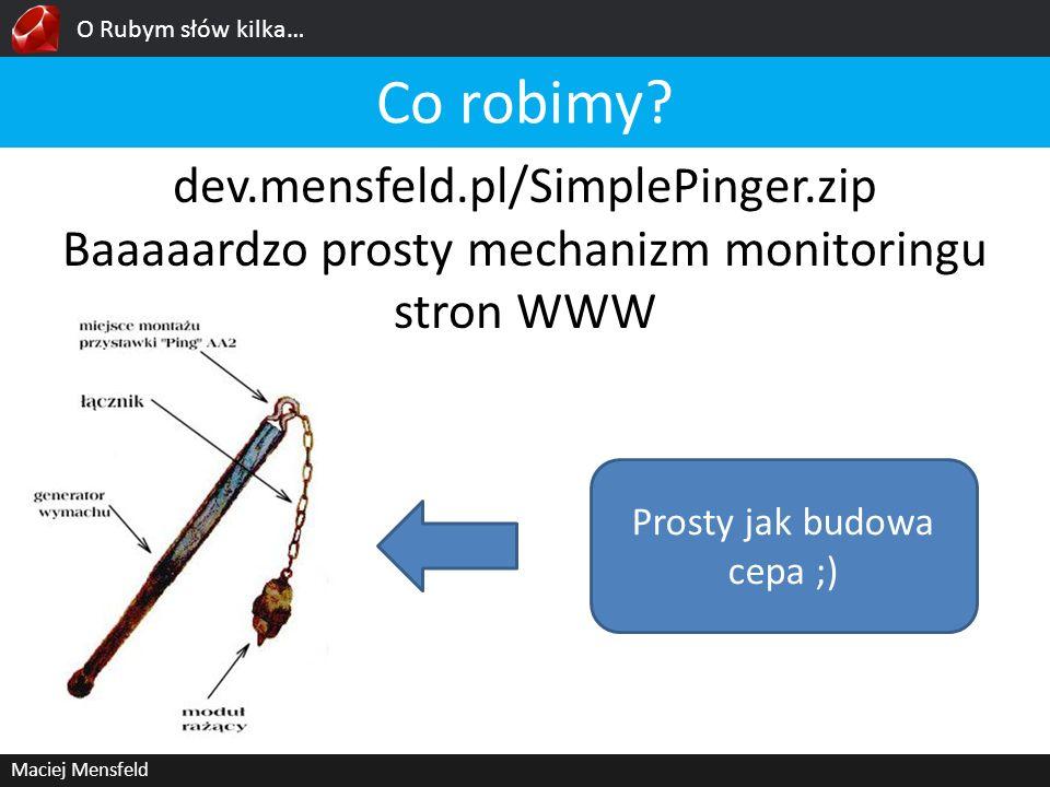 Co robimy dev.mensfeld.pl/SimplePinger.zip