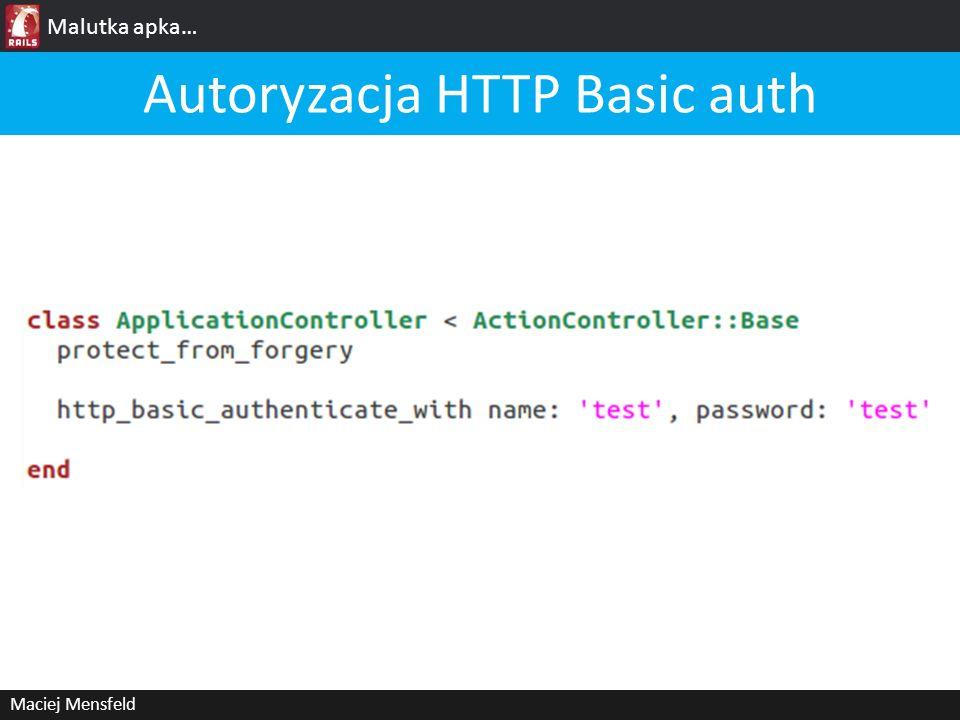 Autoryzacja HTTP Basic auth