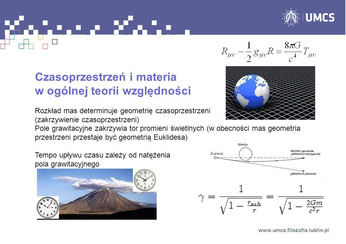 Czasoprzestrzeń i materia w ogólnej teorii względności