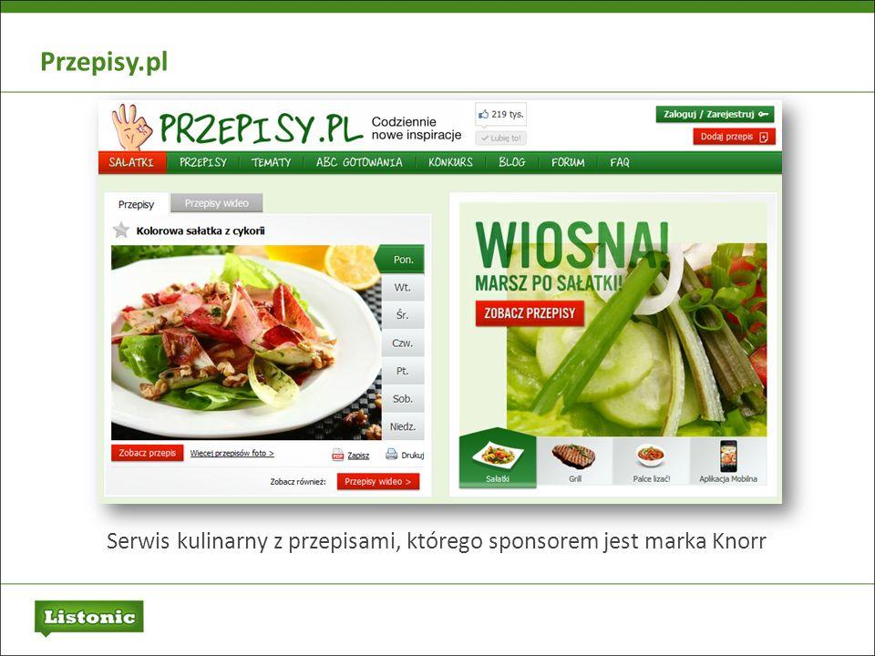 Serwis kulinarny z przepisami, którego sponsorem jest marka Knorr