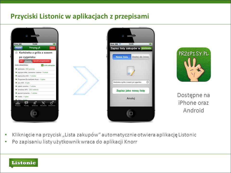 Dostępne na iPhone oraz Android