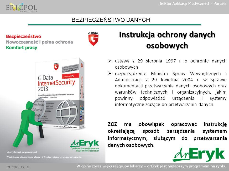 Instrukcja ochrony danych osobowych