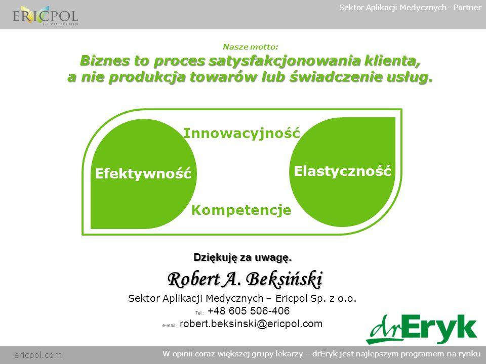 Robert A. Beksiński Biznes to proces satysfakcjonowania klienta,