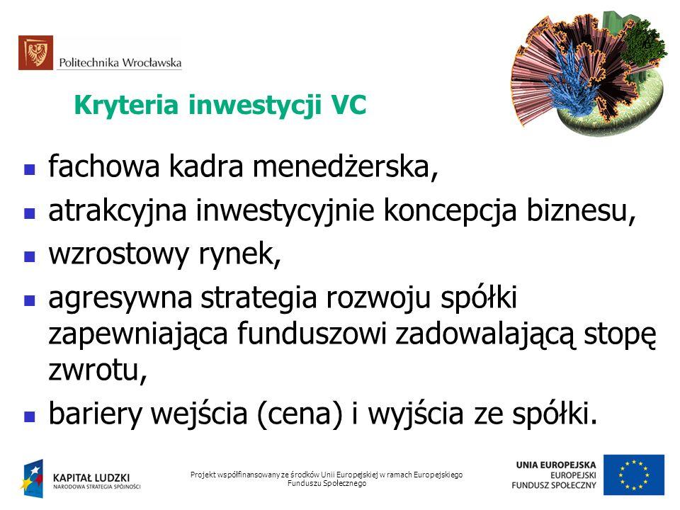 Kryteria inwestycji VC