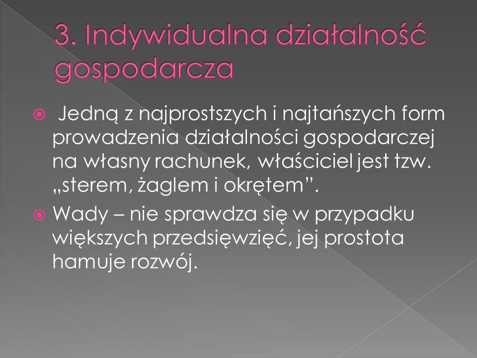 3. Indywidualna działalność gospodarcza