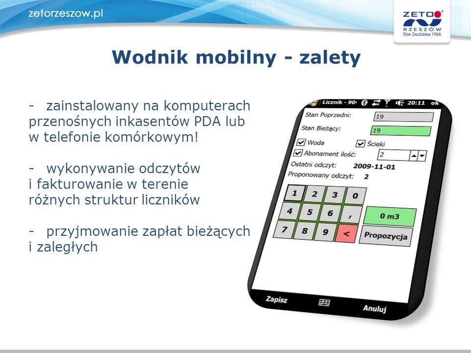 Wodnik mobilny - zalety