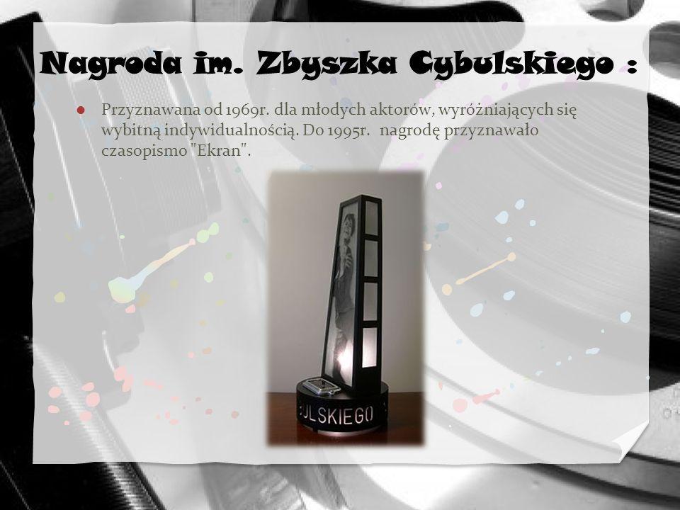 Nagroda im. Zbyszka Cybulskiego :