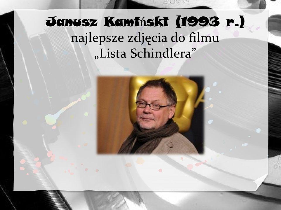 """Janusz Kamiński (1993 r.) najlepsze zdjęcia do filmu """"Lista Schindlera"""