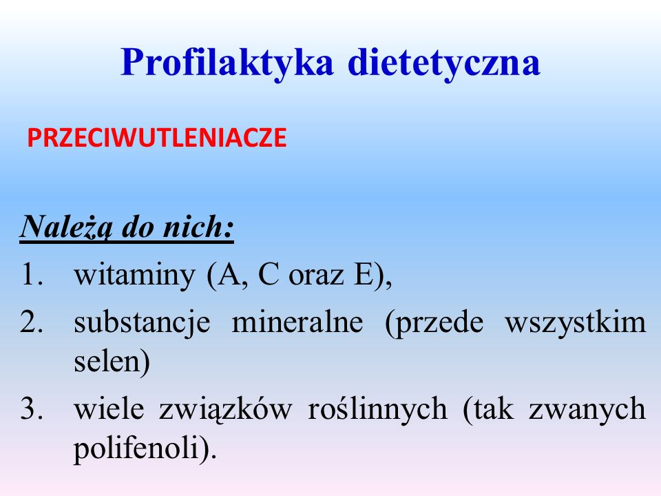 Profilaktyka dietetyczna