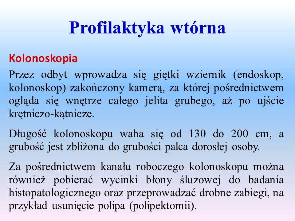 Profilaktyka wtórna Kolonoskopia