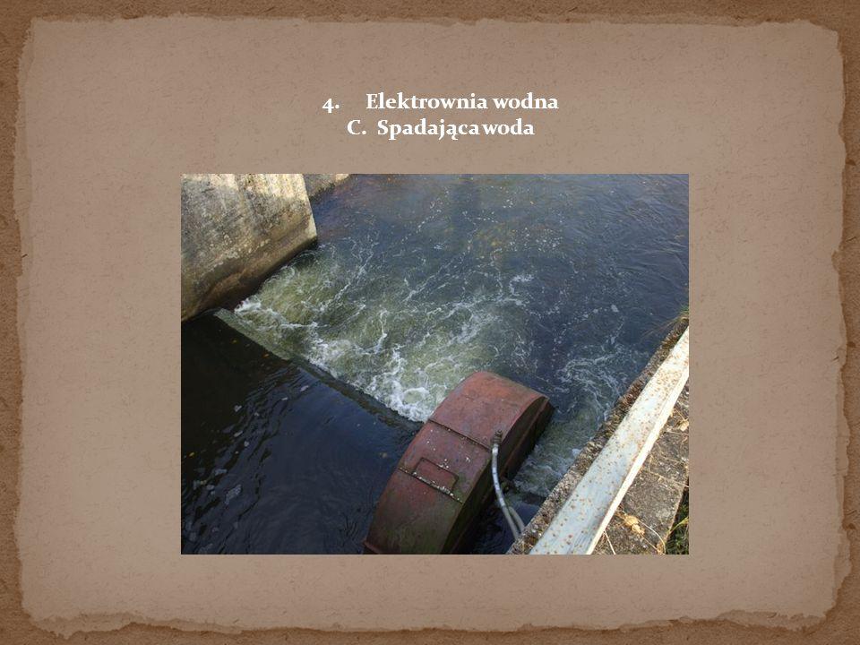 Elektrownia wodna C. Spadająca woda