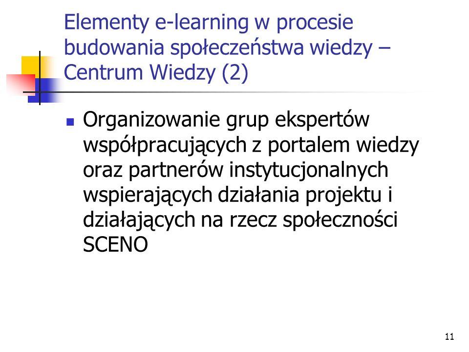 Elementy e-learning w procesie budowania społeczeństwa wiedzy – Centrum Wiedzy (2)