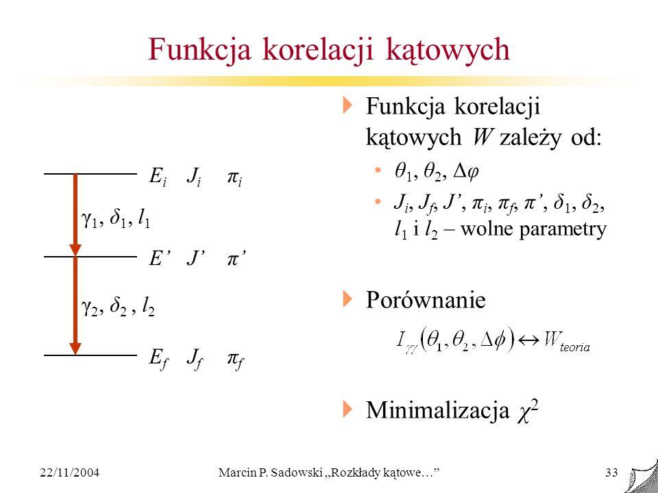 Funkcja korelacji kątowych
