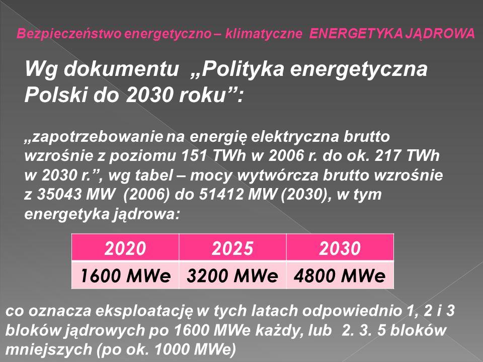 """Wg dokumentu """"Polityka energetyczna Polski do 2030 roku :"""