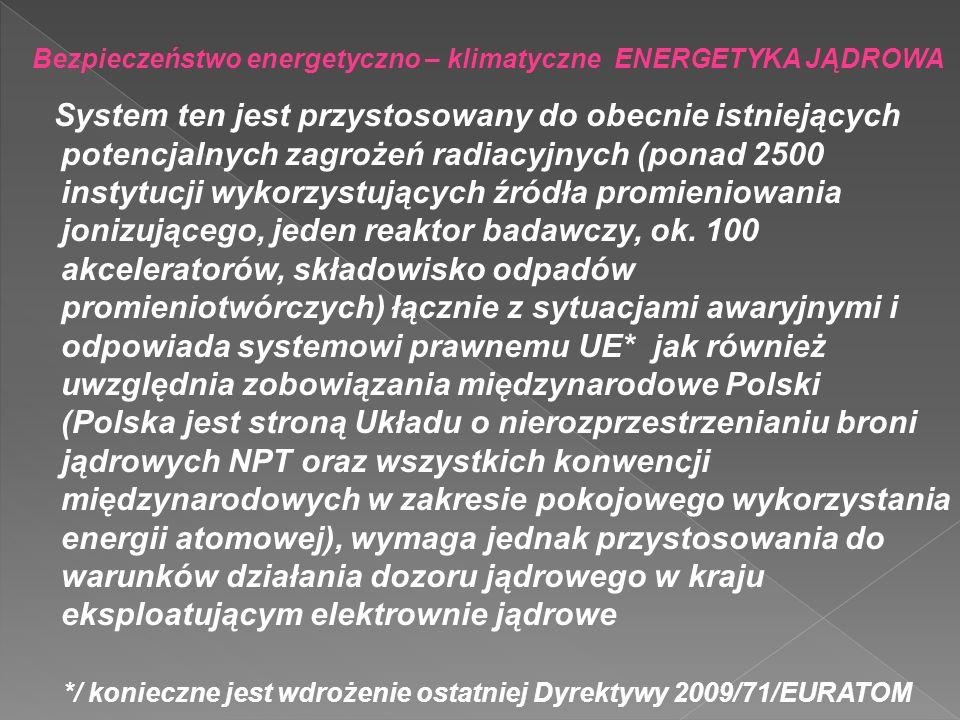 */ konieczne jest wdrożenie ostatniej Dyrektywy 2009/71/EURATOM