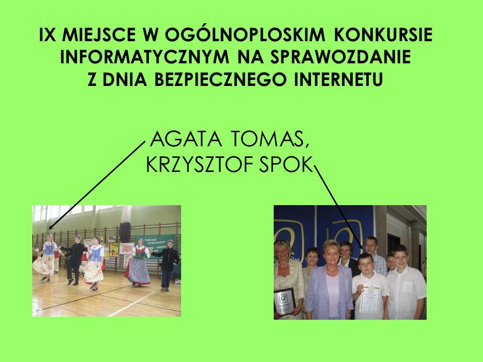 AGATA TOMAS, KRZYSZTOF SPOK