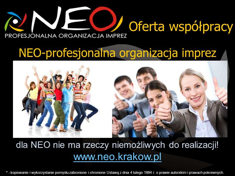 Oferta współpracy NEO-profesjonalna organizacja imprez