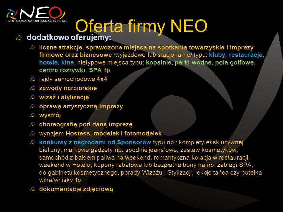 Oferta firmy NEO dodatkowo oferujemy: