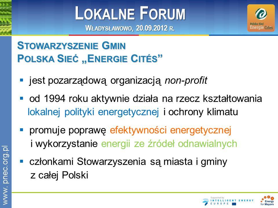 """Lokalne Forum Stowarzyszenie Gmin Polska Sieć """"Energie Cités"""
