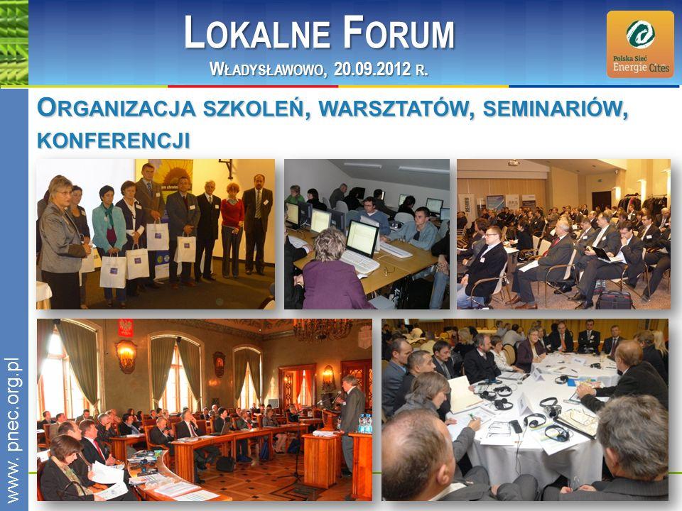 Lokalne Forum Organizacja szkoleń, warsztatów, seminariów, konferencji