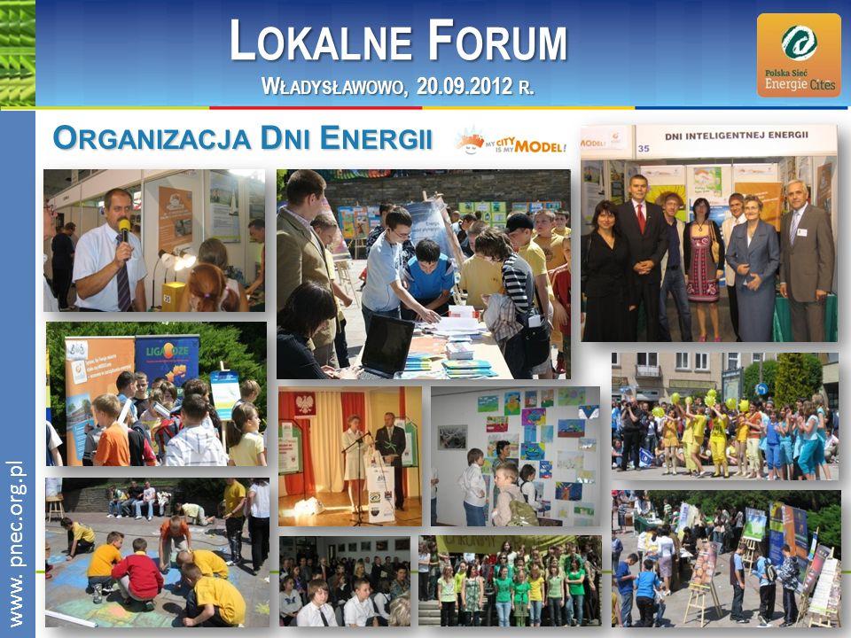 Lokalne Forum Organizacja Dni Energii Władysławowo, 20.09.2012 r.