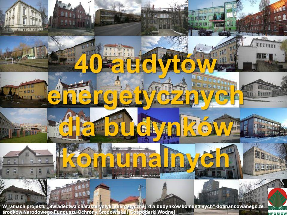 40 audytów energetycznych dla budynków komunalnych
