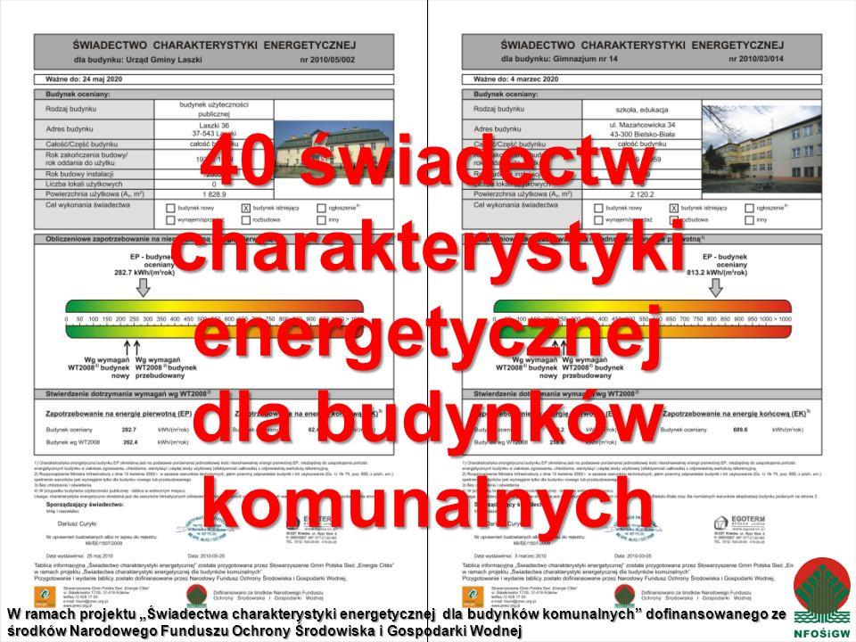 40 świadectw charakterystyki energetycznej dla budynków komunalnych