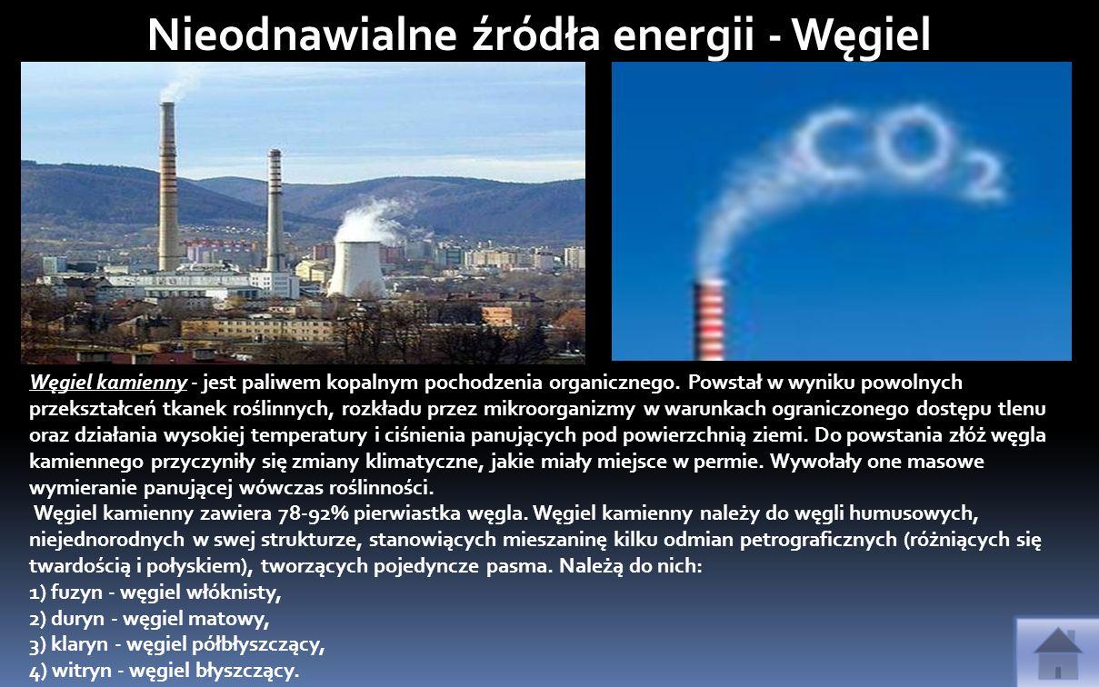 Nieodnawialne źródła energii - Węgiel