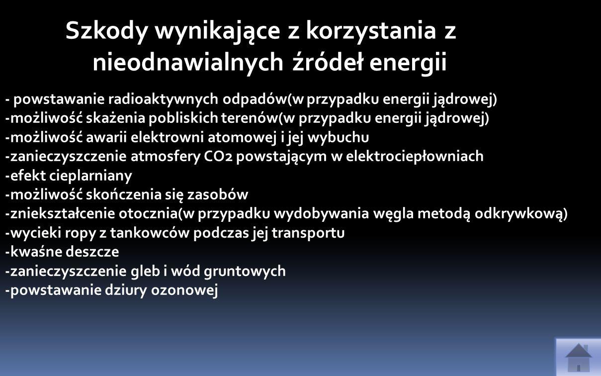 Szkody wynikające z korzystania z nieodnawialnych źródeł energii
