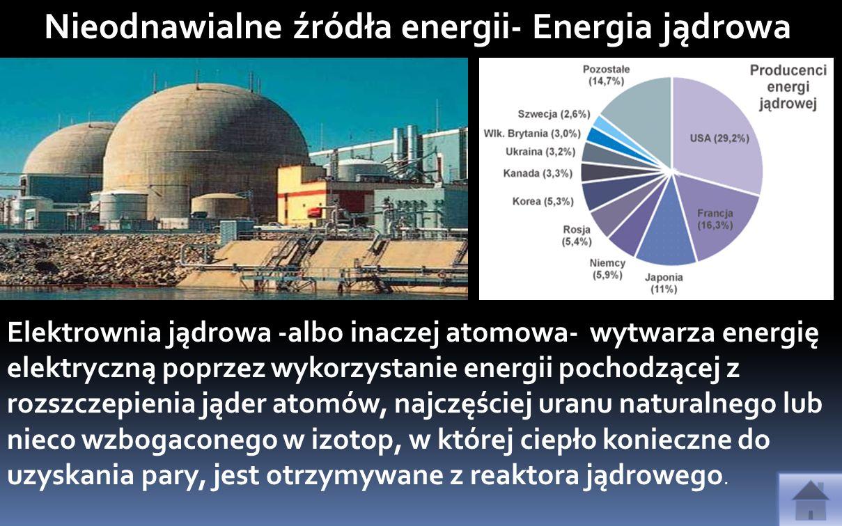 Nieodnawialne źródła energii- Energia jądrowa