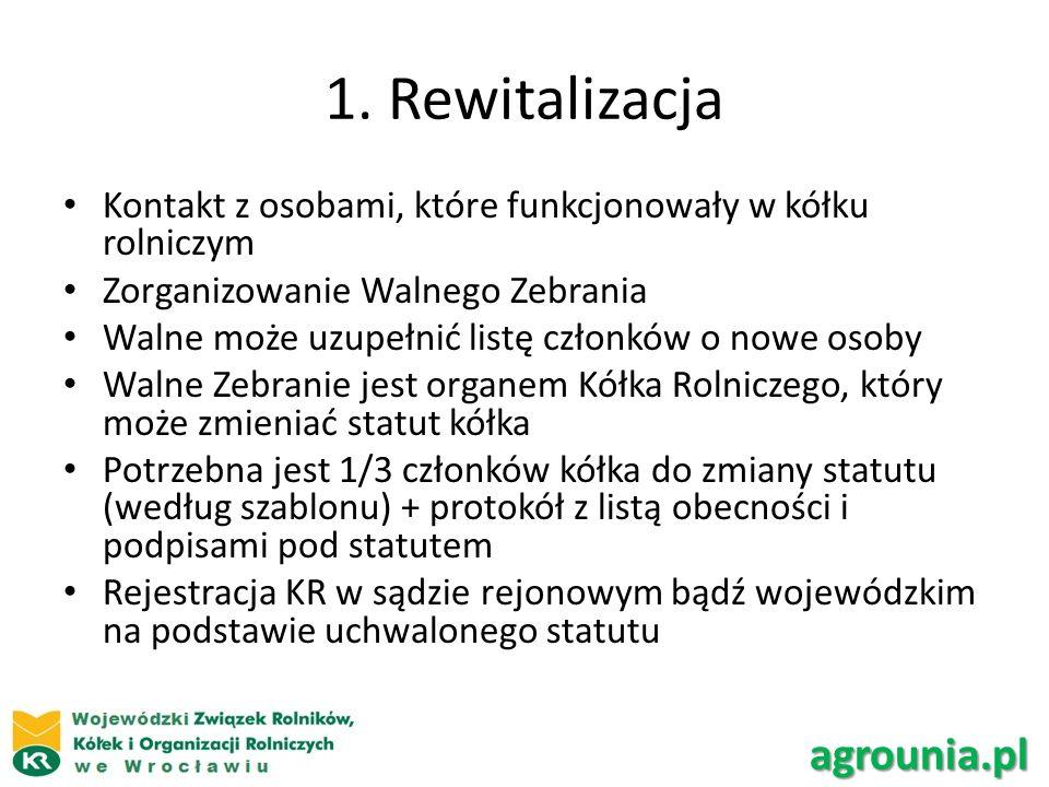 1. Rewitalizacja agrounia.pl