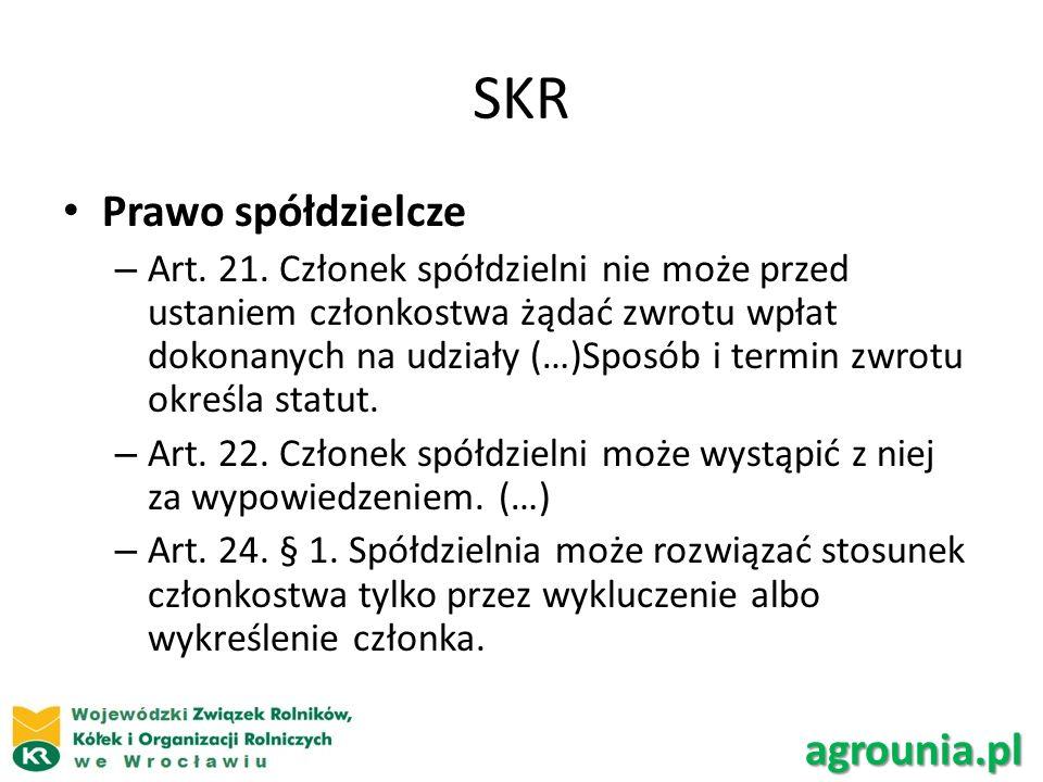 SKR Prawo spółdzielcze agrounia.pl