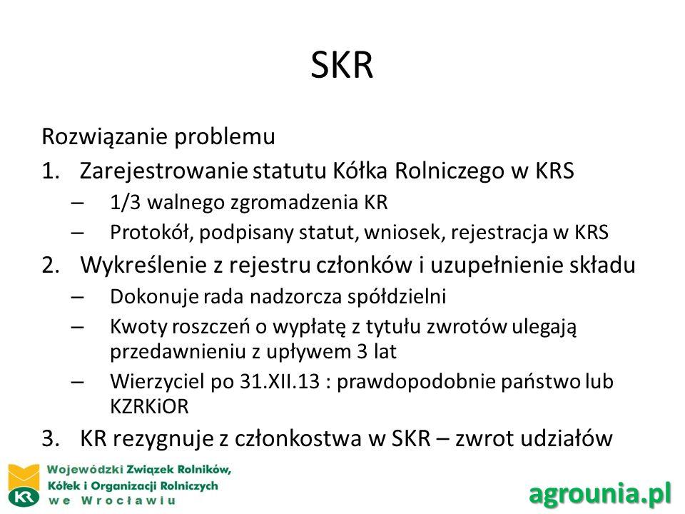 SKR agrounia.pl Rozwiązanie problemu