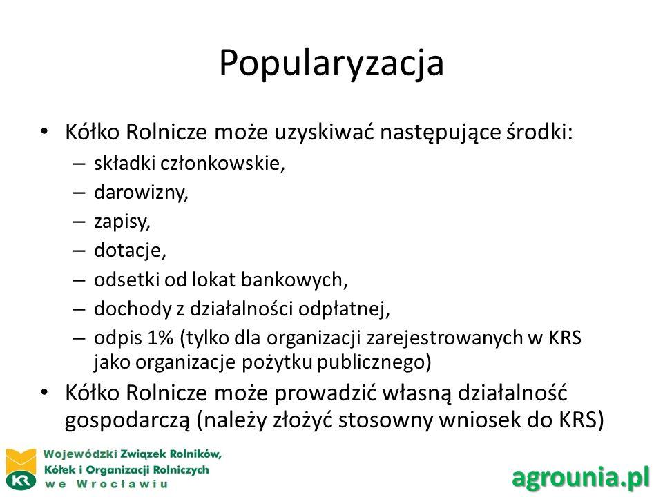 Popularyzacja agrounia.pl