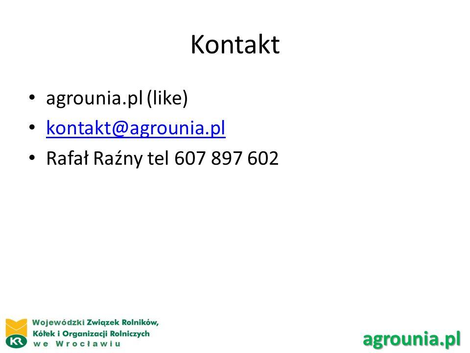 Kontakt agrounia.pl (like) kontakt@agrounia.pl