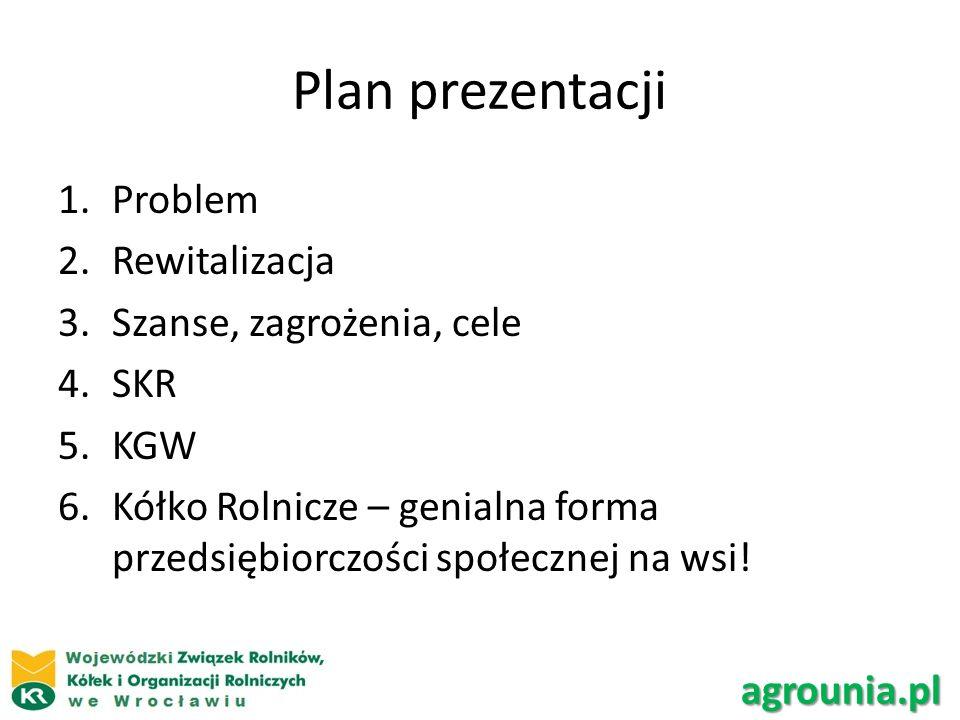 Plan prezentacji Problem Rewitalizacja Szanse, zagrożenia, cele SKR