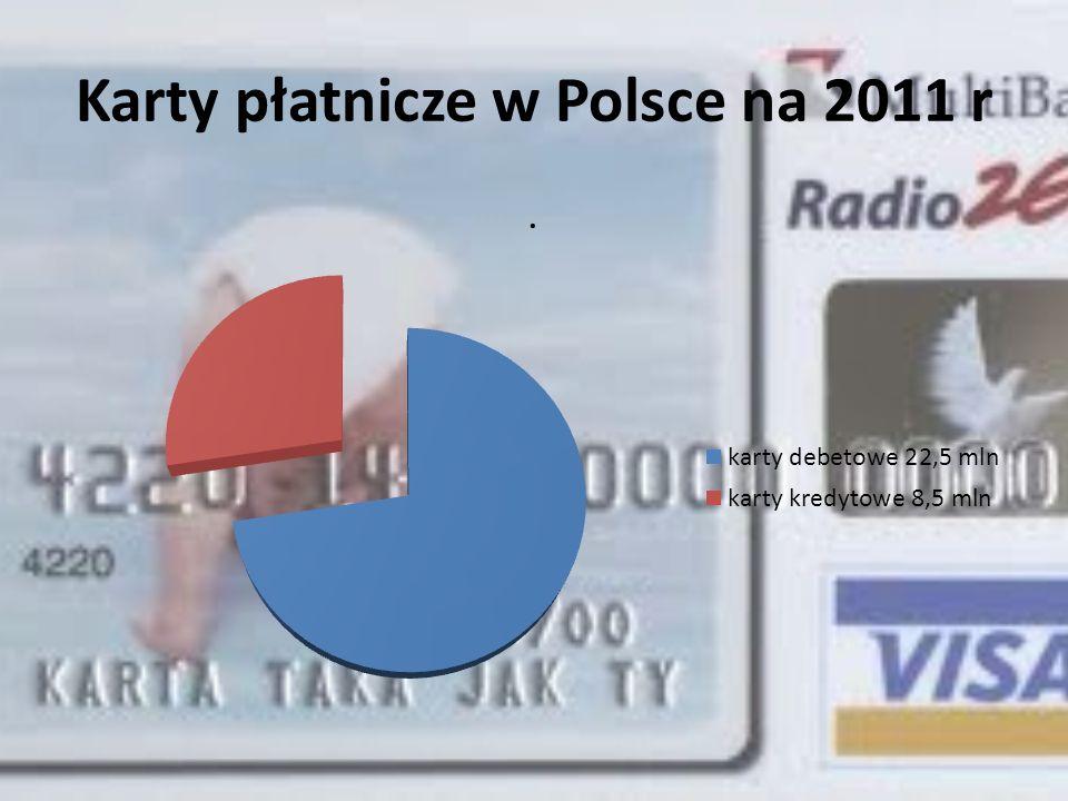 Karty płatnicze w Polsce na 2011 r
