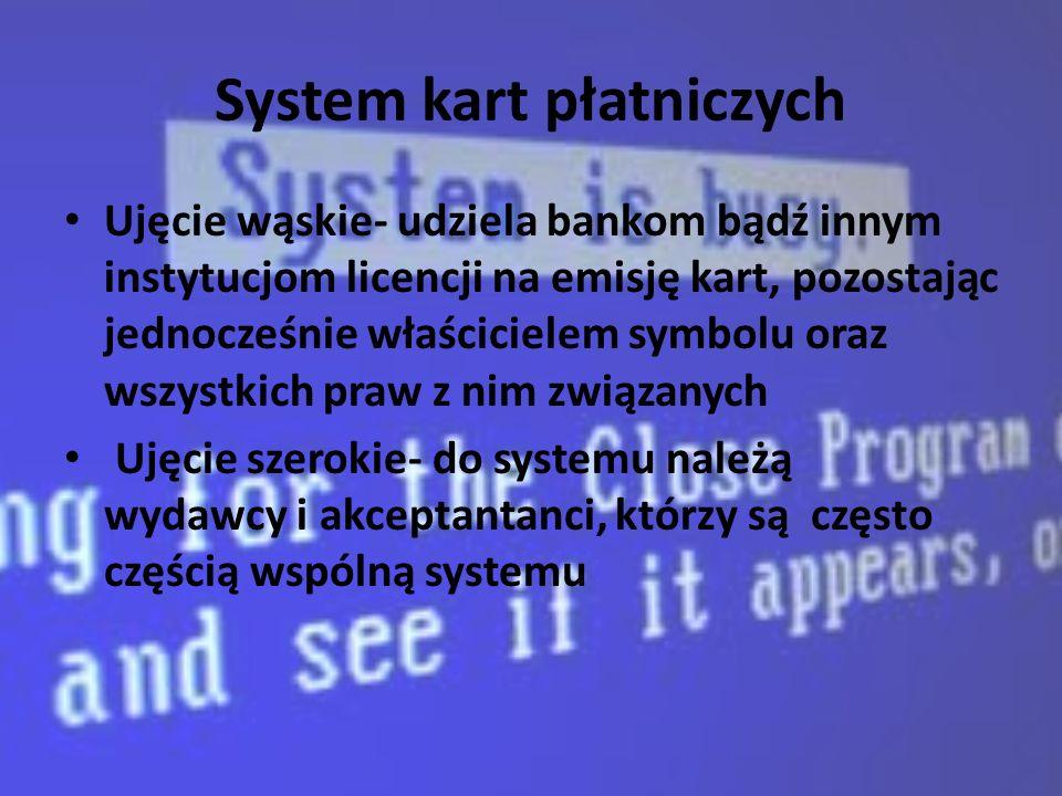 System kart płatniczych