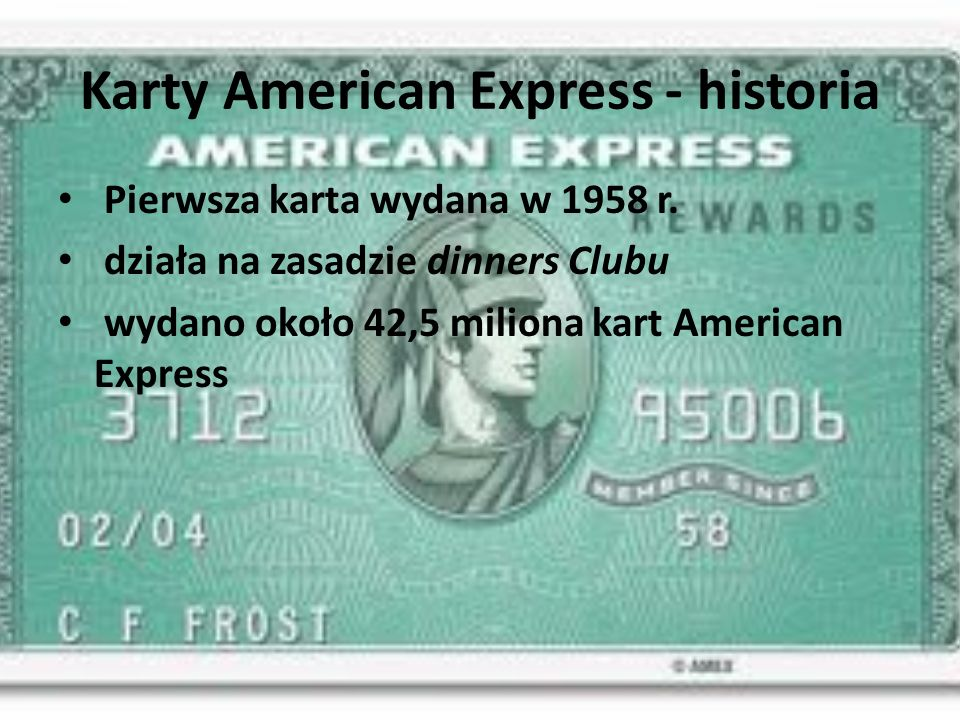 Karty American Express - historia