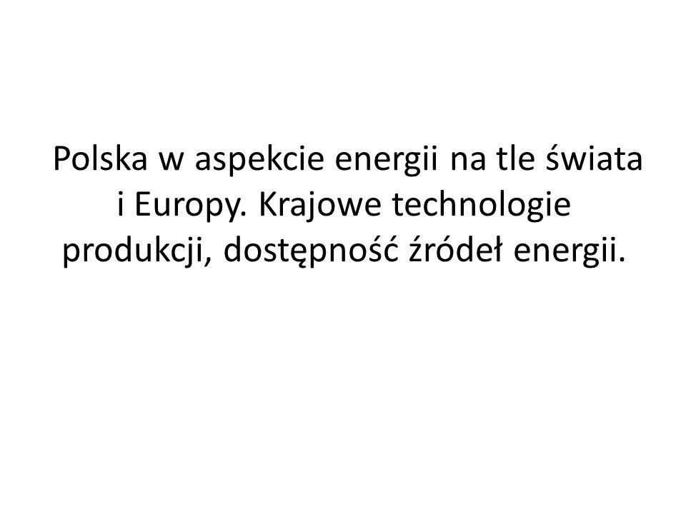 Polska w aspekcie energii na tle świata i Europy