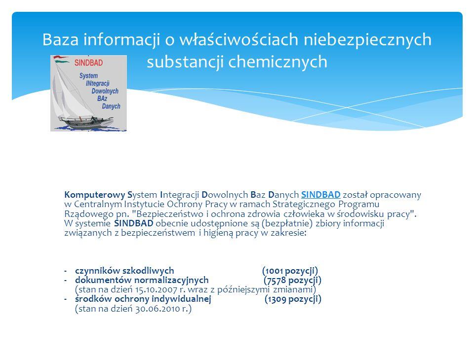 Baza informacji o właściwościach niebezpiecznych substancji chemicznych