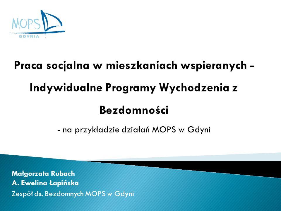- na przykładzie działań MOPS w Gdyni