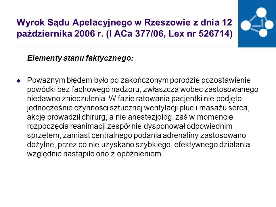 Wyrok Sądu Apelacyjnego w Rzeszowie z dnia 12 października 2006 r